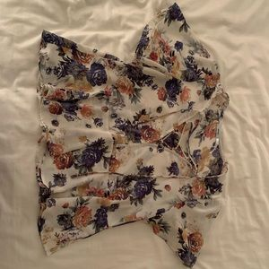 flowy blouse with deep neck